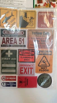 firm price stickers new area 51 first aid u.s army