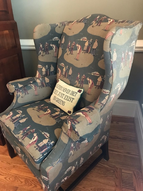 Used Golf Themed Upholstered Chair By Century Great For