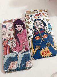 two printed smartphone cases