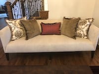 gray fabric sofa with throw pillows Northville, 48168