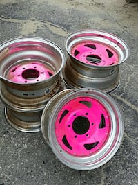 gray and pink auto wheels set Livermore Falls, 04254
