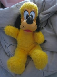 Rare Vintage Disney's Pluto Plush Dog Toy with Rubber Face Winnipeg