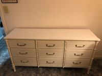 White dresser 9 drawers Clearwater, 33760