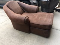 brown suede padded sofa chair Surrey, V3W 1Y1