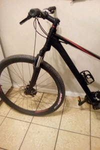 black and red hard tail mountain bike Calgary, T2A 0A8