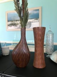 Wooden Decorative Vases