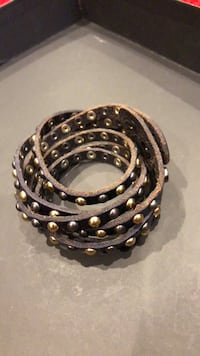 Leather bracelet with snaps Palm Springs, 92262