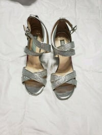Betsy Johnson sparkly silver wedges. Size 6 1/2  Biloxi, 39532