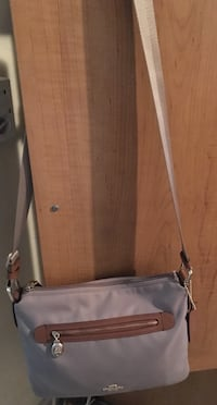 Gray and brown leather crossbody bag Hialeah, 33013