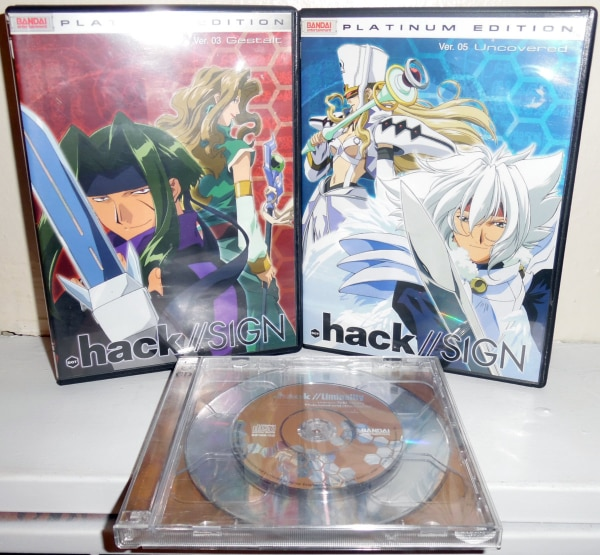 dot hack//SIGN platinum edition DVD volumes 03 and