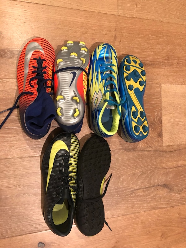 87cbbd036ec Used 3 Pairs Boys soccer cleats (size 4) for sale in San Jose - letgo