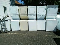 five white stackable washer and dryer sets Silver Spring, 20906