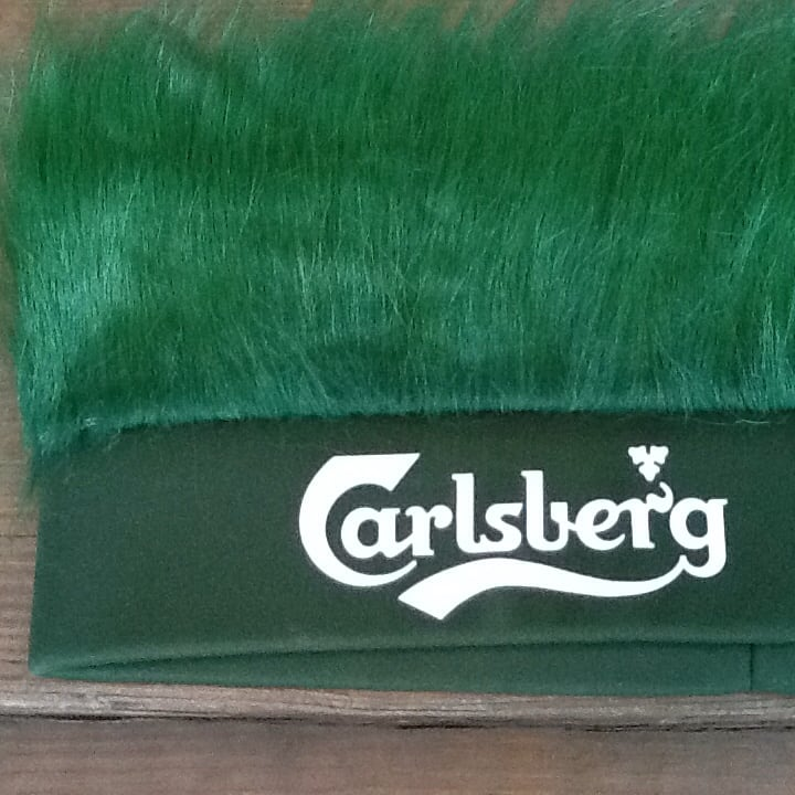 Carlsberg Beer Green Turf Head UEFA Soccer Euro 2016 France Hat - New cc58d69d-752f-43da-94b1-e21bbc2a9335