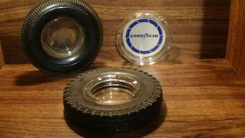 *Man cave*...Retro Ashtrays... Goodyear/Firestone