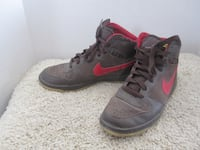 Nike Brown Leather Suede Hi Tops Basketball Court Shoes - 10.5 Winnipeg