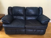 Loveseat Leather Recliner Blue Moving Sale Boyds, 20841