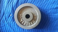 gray barbell 11.3 kg weight plate Huntington Beach, 92647