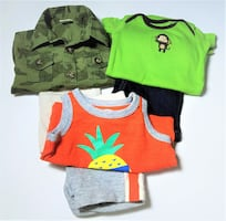 3 SETS OF BOYS 0-3 MONTHS TWO-PIECE SUMMER OUTFIT SETS