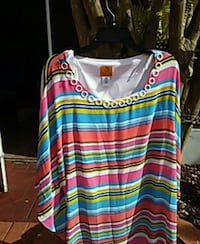 blue, red, and white striped tank top Chuluota, 32766