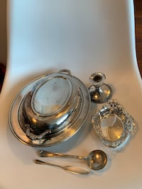 Vintage Assorted Silver Serving ware by Viking plate, BP, R.C. Co Toronto, M9B 0A2
