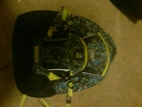 black and green fabric backpack Bozeman, 59718