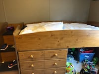 Twin loft bed with mattress. Pick up in Drummonds   Drummonds, 38023