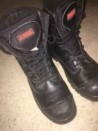 Pair of black leather work boots Halifax