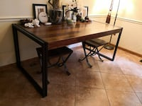 rectangular black wooden table with two chairs Washington
