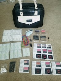 Mary Kay makeup and skin care samples with bag
