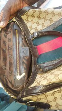 zaino in pelle Louis Vuitton monogram marrone e nero Maddaloni, 81024