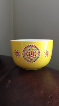 Hand painted latte coffee cup Cantley, J8V 2X5