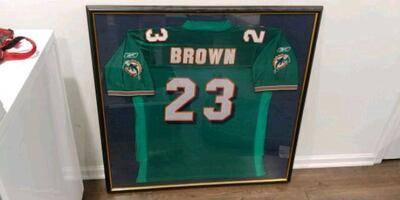 Ronnie Brown framed jersey