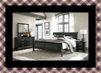 11pc Black Marley bedroom set 46 km