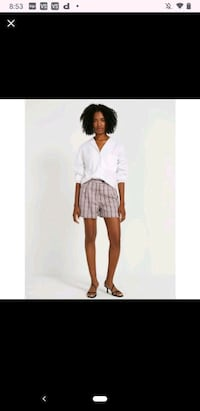 Frank and Oak high waisted plaid shorts Laval, H7T 3A7