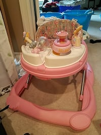 baby's pink and white activity walker Orchard Park, 14127