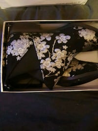 black and white floral leather wallet Greater London, TW4 7PL