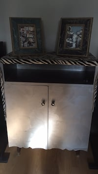 Silver solid wood cabinet