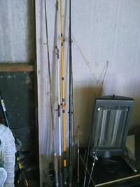 four assorted-color fishing rods Norfolk, 23505