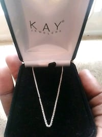 silver Kay Jewelers necklace with box