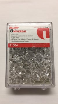 a box of 100 Clear pushpins Metairie, 70001