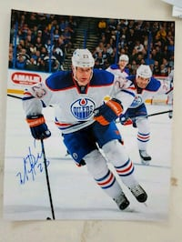 Matt Hendricks Autographed 8x10 Photo  Edmonton, T6L 2K3