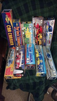 set of 10 Sunoco toy trucks like new in boxes