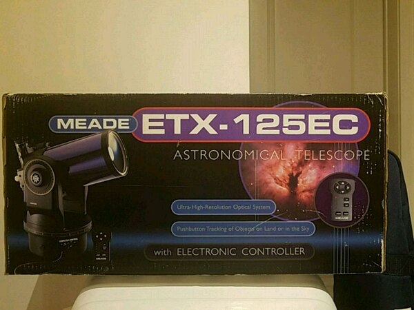 Telescope.  Meade ETX125EC with autostar computer
