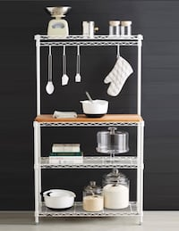 [PICK UP TODAY] Container Store's InterMetro Baker's Rack [SILVER] Washington, 20002