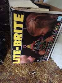 LITE BRITE Pretty good shape game for 4-adult year old
