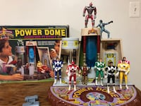 Power Rangers - Power Dome with 6 rangers  Remington, 22734
