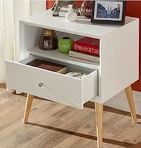 Marin end table with drawer white Truckee, 96161