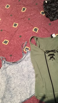 2 tanks tops one from H.M and the other from forever 21 Toronto, M9V