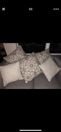 White and gray fabric pillows  Kennesaw, 30144