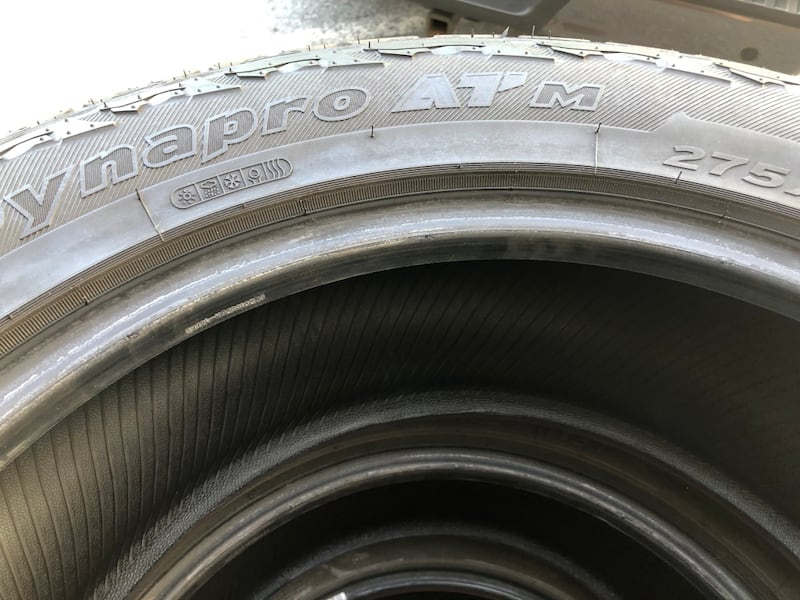 (4) Hankook Dynapro AT Tires 198144b7-4f6d-4f38-9819-ed5d7f707538